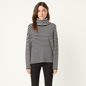 NWT French Connection STRIPE ROLL NECK JUMPER